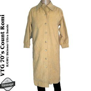 VTG 70s Count Romi Ultra Suede Trench Coat ILGWU